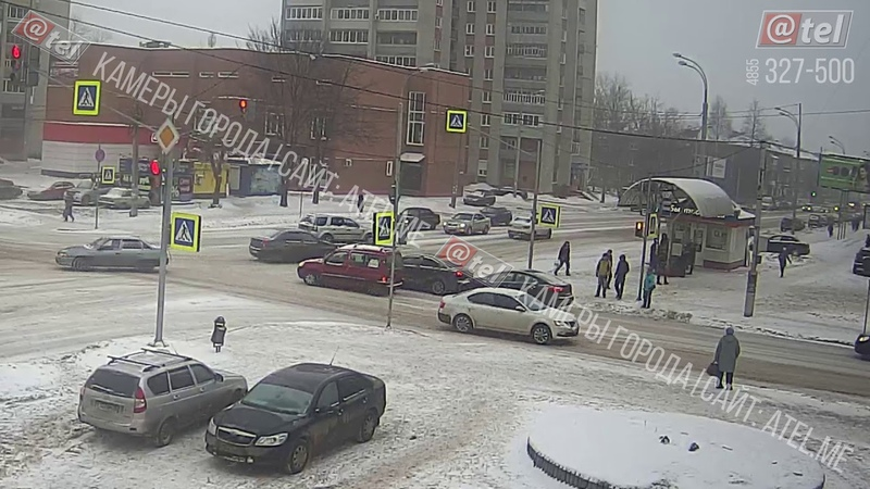 ДТП перекресток Герцена Луначарского 17 01 2019