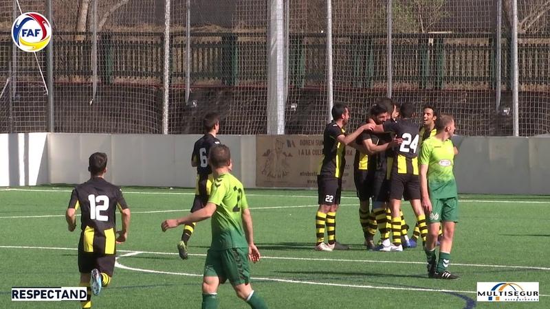 RESUM: Lliga Multisegur Assegurances, J19. Unió Esportiva Sant Julià - U. E. Santa Coloma (2-1)