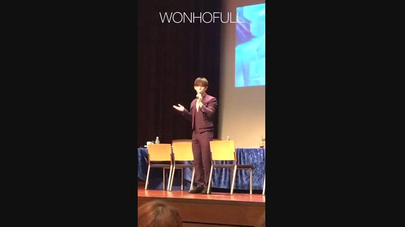 [VK][180421] MONSTA X fancam (Wonho focus) @ Jamsil Fansign