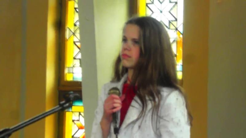 Туманы - поёт Оля Гвоздовская 14 лет . провинциальная девочка