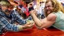 ARM WRESTLING GRANDPA HUSTLES BAR   Devon Larratt