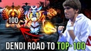 Dendi Fighting HARD - Road to TOP-100 with Queen of Pain - Dota 2