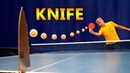 Split a Ball by Hitting it at a Knife