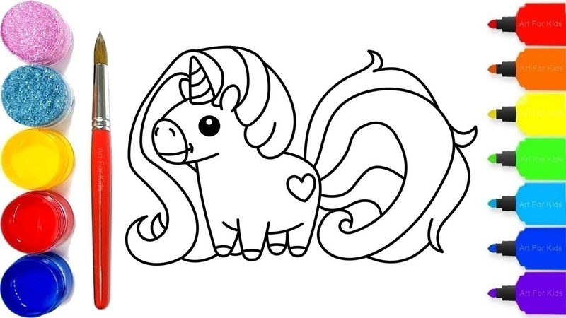 Unicorn Drawing and Coloring Pages for Kids