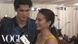 Camila Mendes and Charles Melton on their First Met Gala Met Gala 2019 with Liza Koshy Vogue