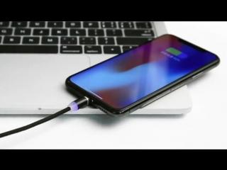 светодиодный магнитный кабель USB для iPhone Micro USB кабель USB C магнит Зарядное устройство