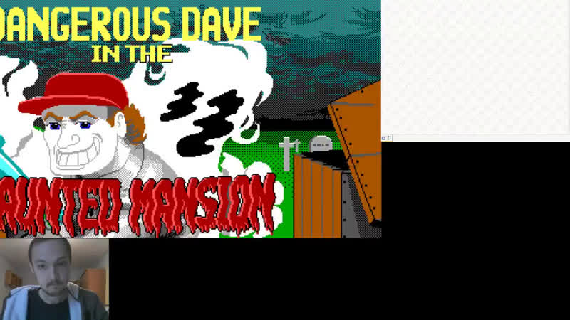 Попытка №2 пройти Dangerous Dave in the haunted mansion (dos retro game)