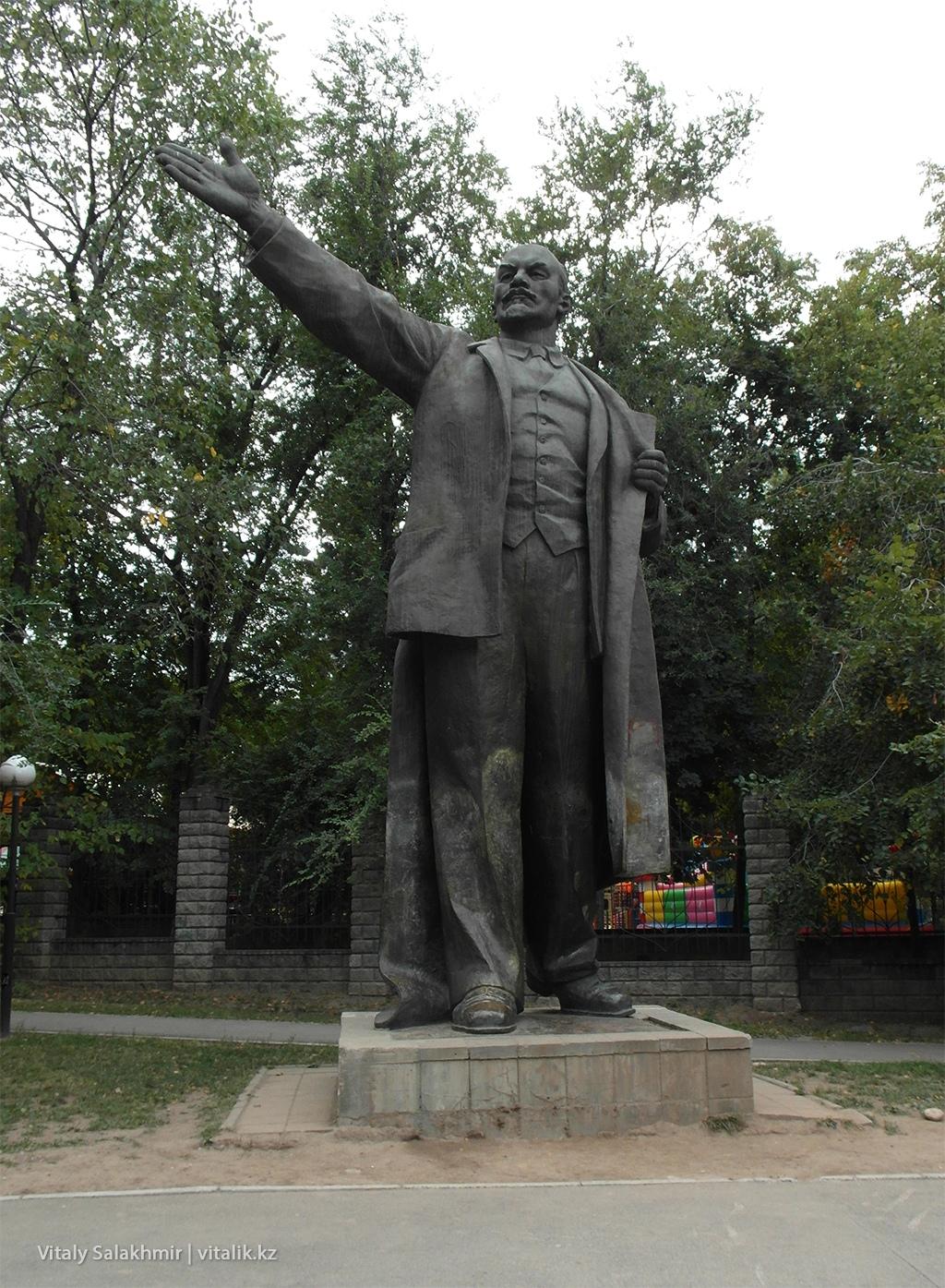 Памятник Ленину в Алматы, сквер Сары-Арка 2018