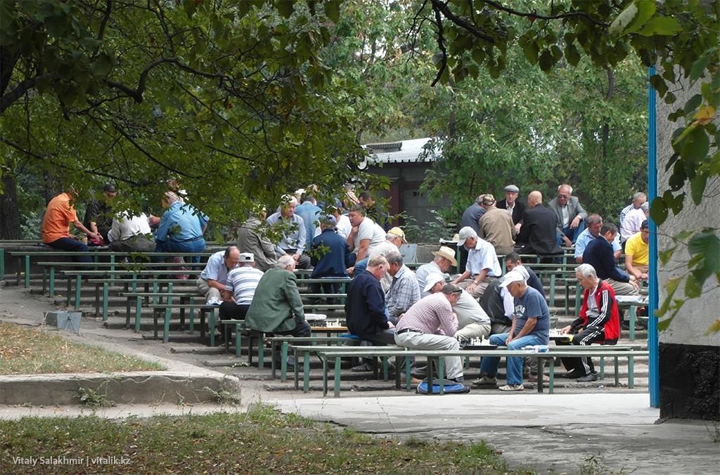 Игра в шахматы, Фемили парк 2018, Алматы