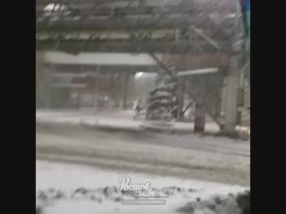 Снегопад в Ростове 20.11.2018 Ростов-на-Дону Главный
