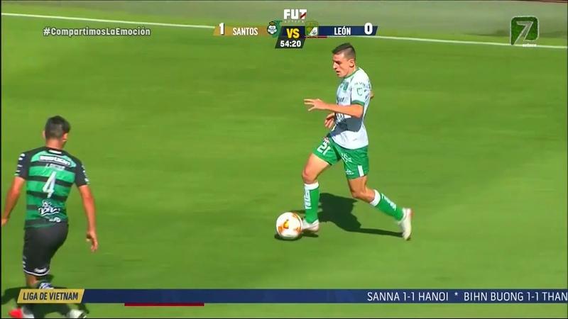 Santos 3 - 0 León Jornada 9 Apertura 2018 LIGA Bancomer MX