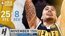 Juancho Hernangomez Full Highlights Nuggets vs Hawks 2018 11 15 25 Pts 8 Rebounds