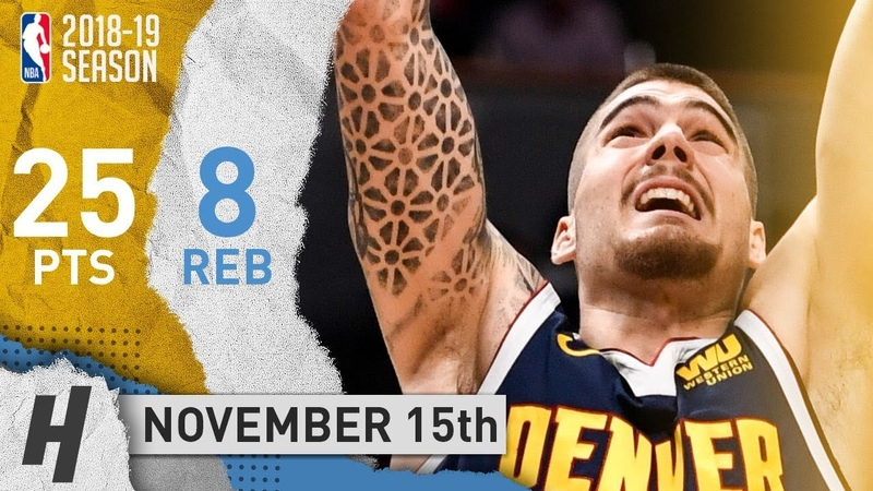 Juancho Hernangomez Full Highlights Nuggets vs Hawks 2018.11.15 - 25 Pts, 8 Rebounds!