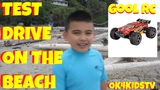 GoolRC Monster Truck Remote Control - Toy Review Beach Test Drive ok4kidstv video 211