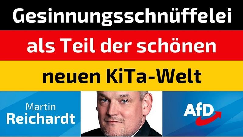 Martin Reichardt (AfD) - Gesinnungsschnüffelei als Teil der schönen neuen KiTa-Welt