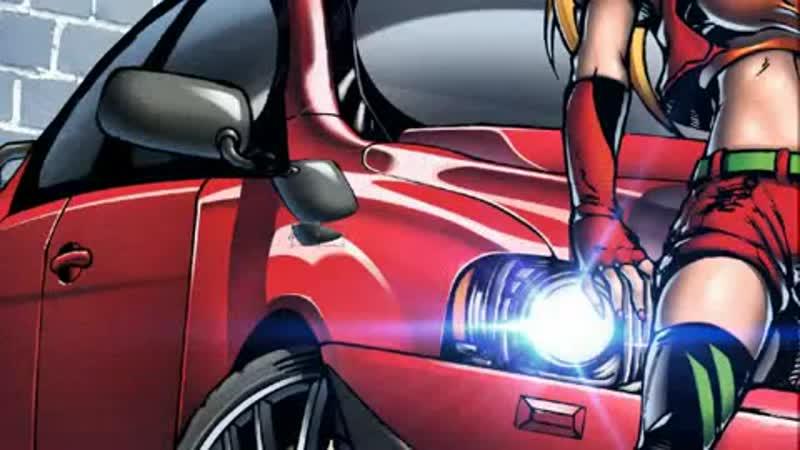 35. Mitsubishi Motors - Asuka Sohryu _u0026 Nadia EVO-Lancer X, Coloring in Photoshop