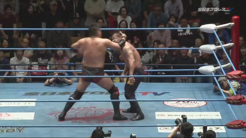 Shuji Ishikawa vs. Zeus (AJPW Champion Carnival 2019 - Day 16)