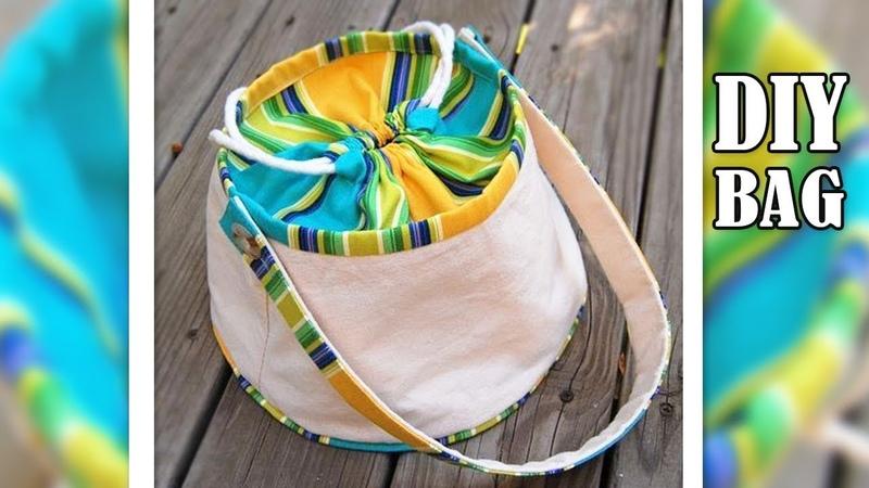 DIY ROUND ADORABLE TOTE BAG TUTORIAL Cute Purse Bag Cut Sew Making Idea
