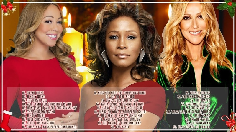 Christmas Songs 2018 By Mariah Carey, Celine Dion, Whitney Houston : Best Songs of World Divas