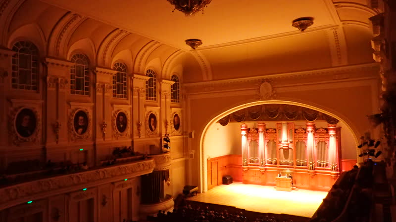 Органный концерт в Консерватории. Бах. Пассакалия (и фуга) до минор. Фрагмент. Исп. К.Волостнов