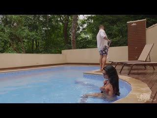 [TransAngels] Bianca Reis & Victor Hugo - Wet and Wild [2019 г., Shemale, Ass Licking, Cum On Mouth, 1080p]