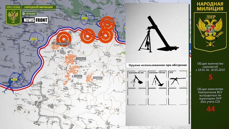Карта обстрелов. Обстановка на линии соприкосновения за сутки