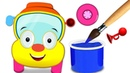 Colors for Children to Learn with Wheels on the Bus Painting Song by Nursery Rhymes Club