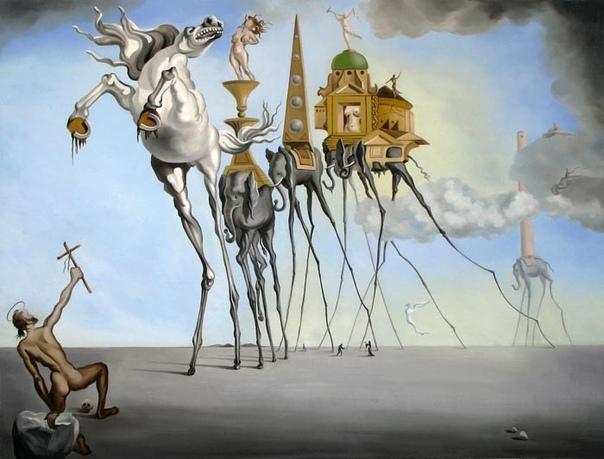 Картина Сальвадора Дали «Искушение святого Антония» появилась благодаря кинематографу. Для фильма «Милый друг» потребовалось нарисовать образ святого, подвергающегося различным искушениям. Конкурс проводился в Америке кинопродюсером Альбертом Левиным.