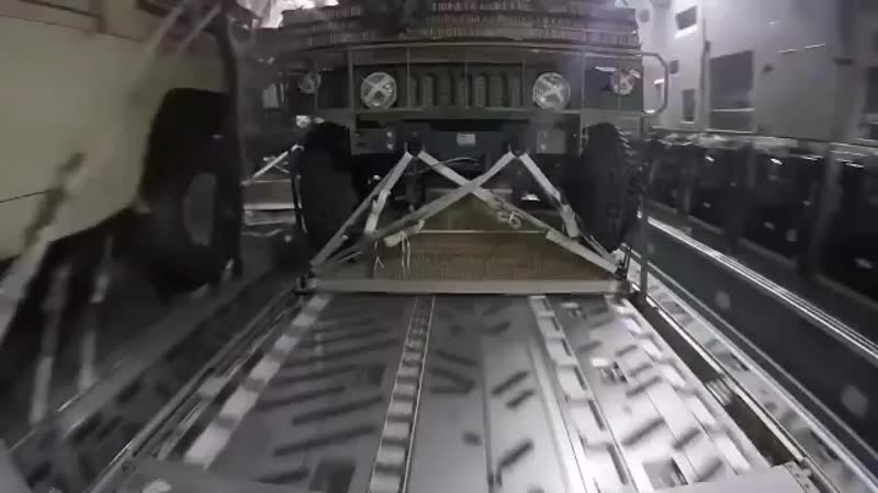 This Is The View From a Humvee Being Dropped From a Military Plane... - BUT One Was Accide