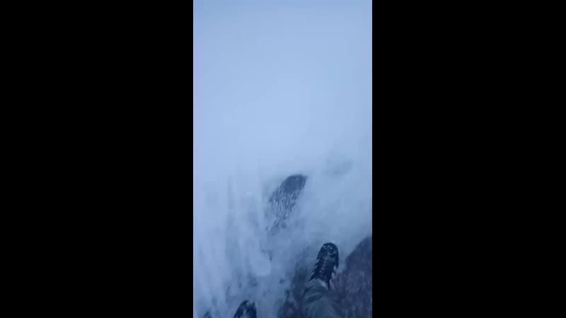 хуй на снегу