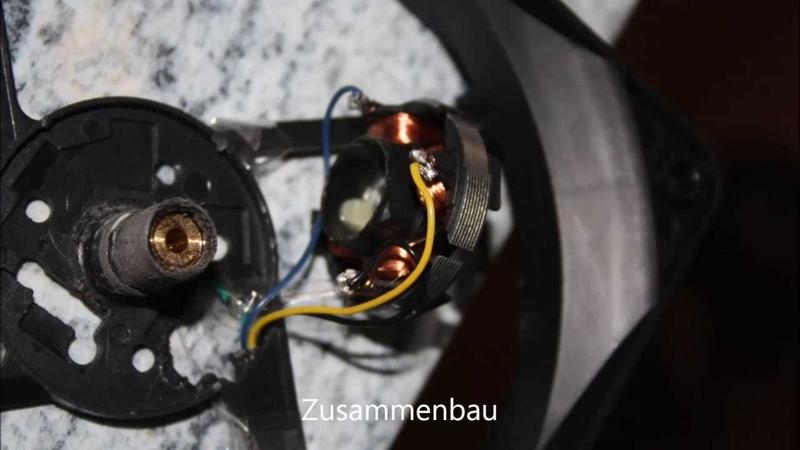 Мотор бедини анализ репликации Часть 1 5 Bedini PC Kühler bauen на кулере Nachbau und Analyse