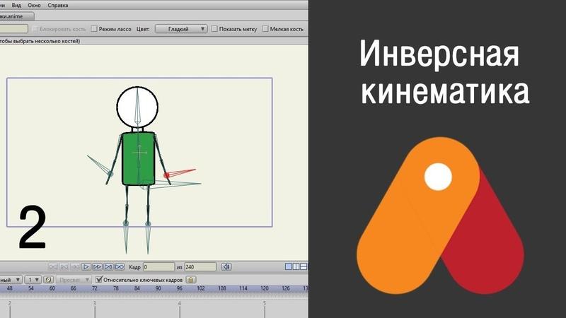Анимация в Anime Studio Pro. Инверсная кинематика. Угловые ограничения