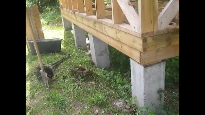 Столбчатый фундамент из бетона (опалубка)