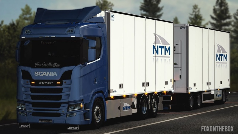 Tandem addon for Next Gen Scania Euro Truck Simulator 2 Mod