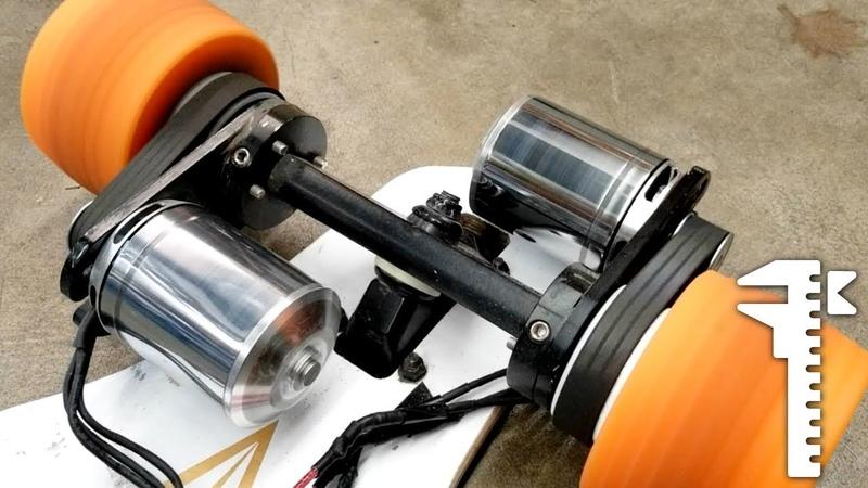 DIY 12s Monster Electric Skateboard Power-sliding and Drag Racing
