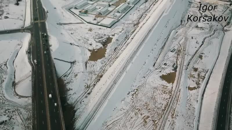Крымский мост(18.01.2019) ПОЛЁТ Ж_Д подходы в снегу ОЧЕНЬ КРАСИВЫЕ кадры РЕЛЬСЫ