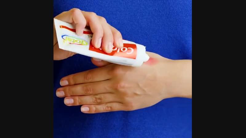 Необычное использование зубной пасты.Лайфхаки.