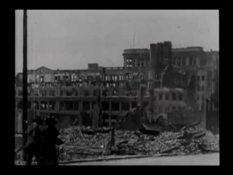 Exploded gas tanks, U.S. Mint, Emporium and Spreckels Bld'g