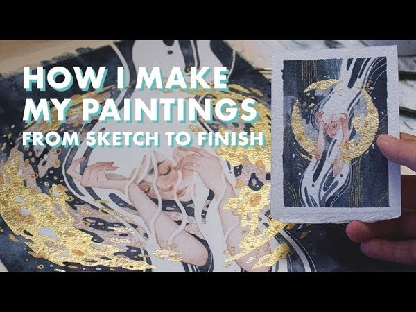 HOW I MAKE WATERCOLOR PAINTINGS Sketch to Finish