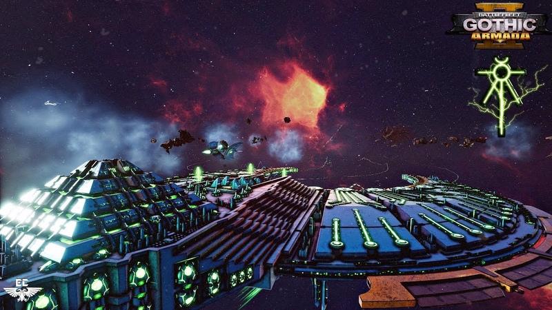 ФЛОТ НЕКРОНОВ!💀 Обзор и Геймплей - Battlefleet Gothic: Armada 2 [4k Video]