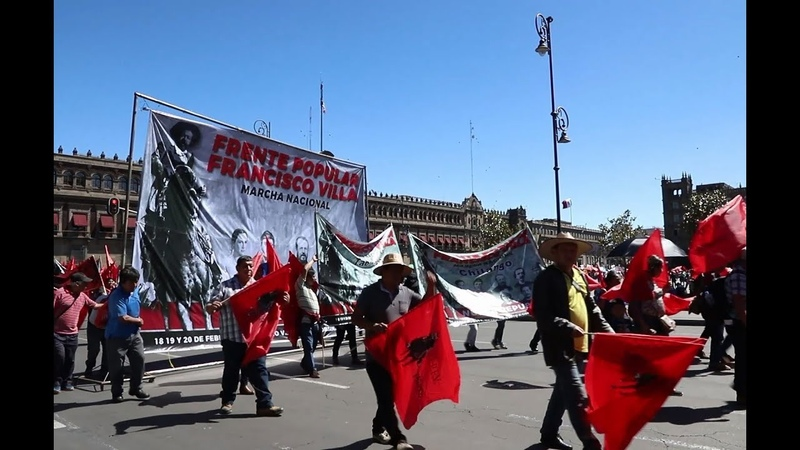 Mexicanos marchan contra megaproyectos neoliberales