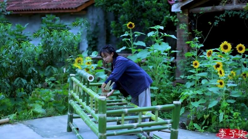 Ли ЦзыЦи ДЕВУШКА С ХАРАКТЕРОМ Уютная мебель из бамбука своими руками
