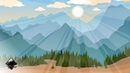 Landscape with mountains in Inkscape
