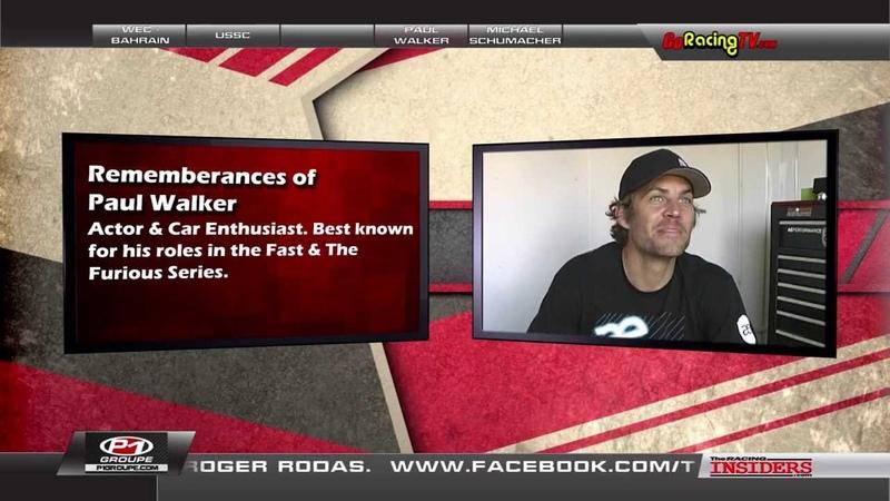 Paul Walker Interviewed on The Racing Insiders