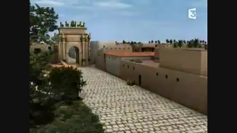 виртуальная реконструкция Лептис-Магны, Большой Лепты - финикийской колонии на территории современной Ливии.