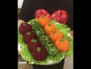 Салат в форме шариков😍 ингредиенты указаны под видео