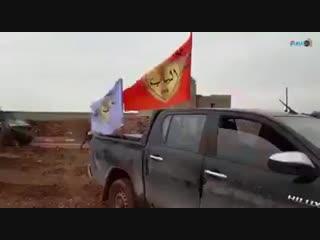 Совместный патруль сил SDF и военной полиции РФ на западе Манбиджа.