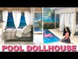 DIY DOLLHOUSE with POOL &amp real water (miniature beach house)