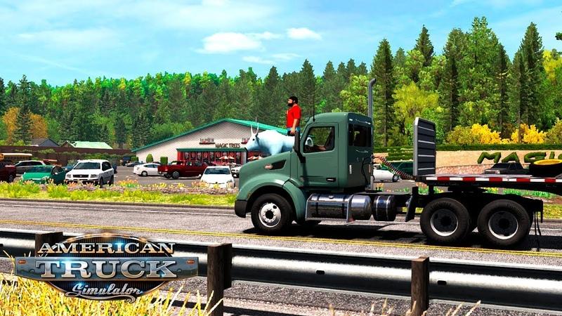 ОБНОВЛЕНИЕ: OREGON DLC! / Los Angeles (CA) - Coos Bay (OR) | American Truck Simulator 9