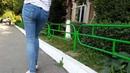 Попка в джинсах